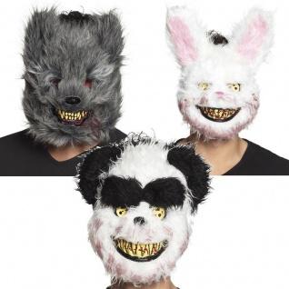 blutrünstige gruselige Tiermaske -Bunny, Werwolf, Panda Maske Halloween Kostüm