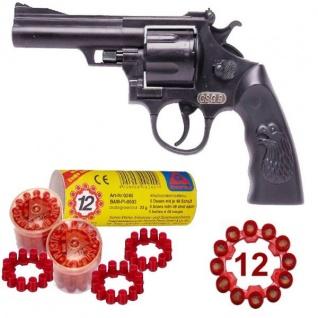 Agent GSG 9 Knall-Pistole mit 240 Schuss Munition Kinder Spielzeug Revolver