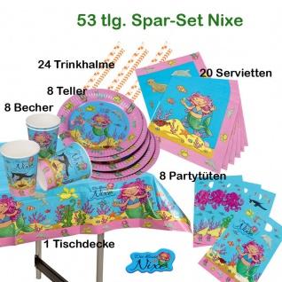 Kinder Geburtstag 69 tlg *KLEINE NIXE MEERJUNGFAU* Teller Becher Servietten.