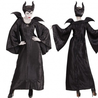 BÖSE FEE Königin Malefizia Teufelin Hexe Damen Kostüm - NEU Maleficent Kleid