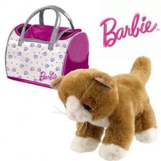 Barbie Plüsch Katze ca 30 cm MIT TASCHE Plüschtier Stofftier Kuscheltier