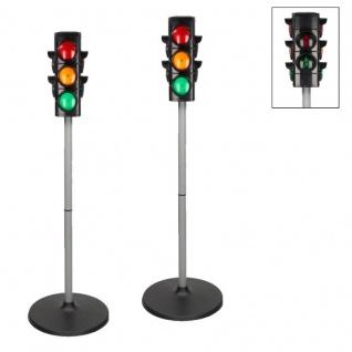 2 X Kinder Spielzeug Ampel Verkehrsampel Fußgängerampel mit Licht 75 cm hoch