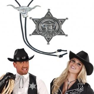 SHERIFF SET Cowboy Western - Krawatte und Stern - Sheriffstern Fliege Binder
