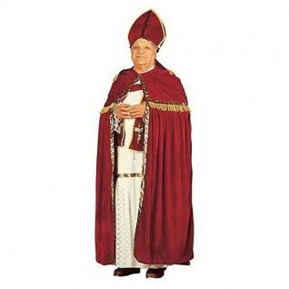 Exklusives Nikolaus Kostüm 5-teilig mit Mitra - Bischof Weihnachtsmann XXL /XXXL