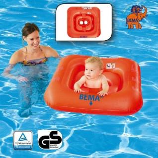 BEMA Baby Schwimmsitz orange Kinder Lern Hilfe Kleinkind Schwimmring Bade Hilfe