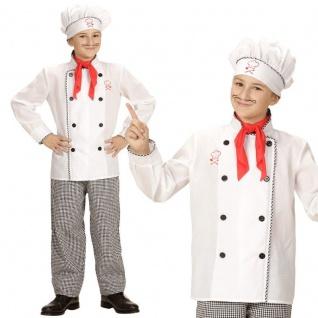 Chefkoch Koch Kinder Kostüm Gr. 158 (11-13 J.) 3tlg. Oberteil Hose Mütze #618