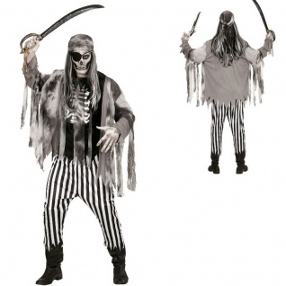 PIRATENKOSTÜM Geisterschiff Herren Ghost Ship Kostüm Halloween Zombie S M L XL