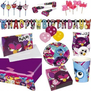 FURBY Party Artikel Kinder Geburtstag AUSWAHL Teller Becher Servietten Einladung