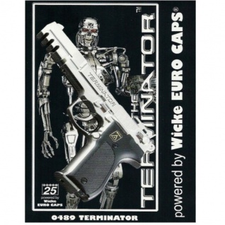 Sohni-Wicke TERMINATOR Kinder Spielzeug Pistole Agent 25-Schuss chrom Pistole