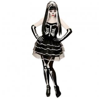 SEXY Damen Kostüm SKELETT LADY Gr. L (42/44) Halloween Skeleton Girl