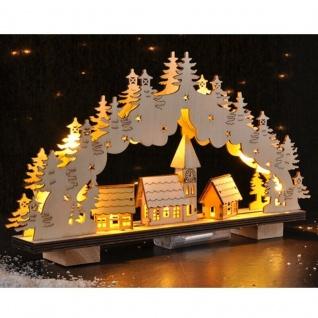 SCHWIBBOGEN aus Holz mit LED 33x19x5cm Lichterbogen Schwippbogen #4943