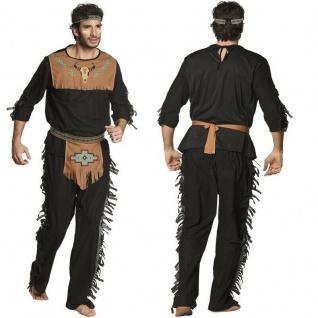 Indianer Häuptling Edler Wolf Herren Kostüm Wilder Westen Apache Western Karneva