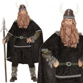 Wikinger Krieger Herren Kostüm Gr. S 48 - NEU Ragnar Barbaren Mittelalter #0598