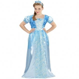 Schnee Prinzessin Mädchen Kostüm Gr. 128 Kleid Eiskönigin Kinder Schneekönigin