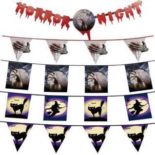 Halloween Deko Girlande Wimpelketten Fahne Banner Spinnweben