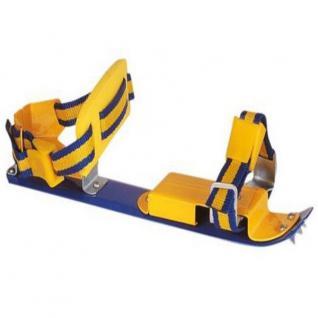 Top Verstellbare Gleitschuhe Junior 35-40 Schlittschuhe Gelb/Blau #0126