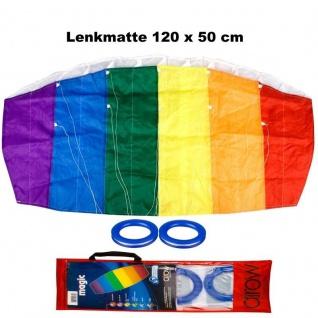WOW HQ Lenkmatte 120 x 50 cm Lenkdrachen Drachen Kite - DRAGON FLY - Magic