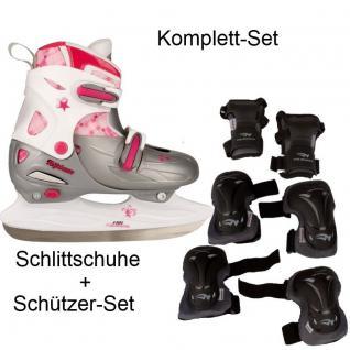 Schlittschuhe Kinder + Schützer Set verstellbar 27-30 30-33 34-37 38-41 #020