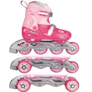 Kinder Inliner und Rollschuhe Rosa Größen 27-37 wählbar