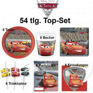 Disney CARS 54 tlg. Top-Set Kinder Geburtstag - Party Teller Becher Trinkhalme
