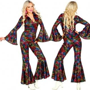 70er Damen Kostüm Disco Retro Abba Super Trooper Mama Mia - Overall Jumpsuit