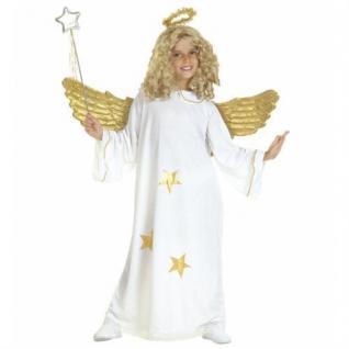 Gold Engel Kinder Kostüm mit Heiligenschein Auswahl Gr. 128, 140, 158