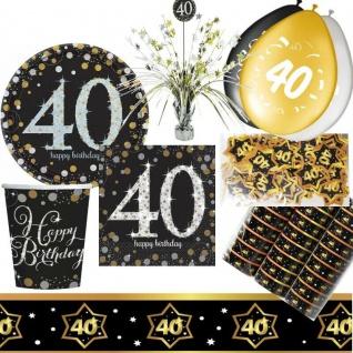 40. Geburtstag Dekoration mit runder Zahl 40 Party Tisch-Deko AUSWAHL - 3 -