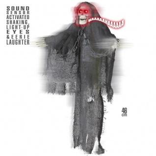 TOD SKELETT Grim Reaper animiert mit Bewegung Sound und Licht Halloween Deko
