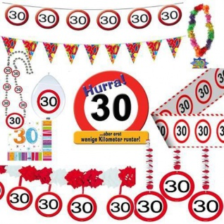 Geburtstagsdeko 30. Geburtstag Verkehrsschild Party Zubehör Dekoration Deko Sets