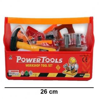 14tlg. Werkzeug Box Koffer für Kinder Spielzeug Hammer Säge Winkel usw. #715