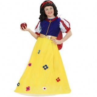Kinder Kostüm Märchenprinzessin Gr. 128 Schneewittchen Mädchen Kleid Prinzessin