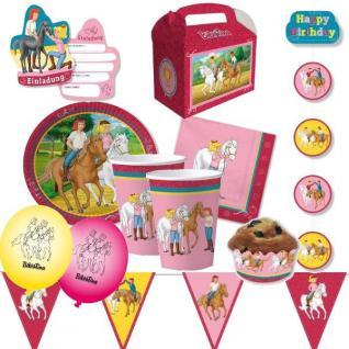 BIBI & TINA Kinder Geburtstag Party Deko - Pferd - Mega Auswahl -Teller Becher
