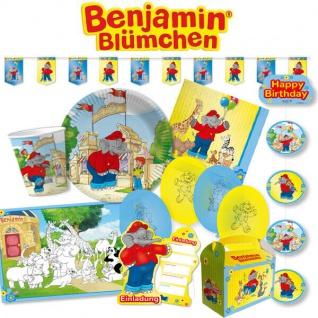 BENJAMIN BLÜMCHEN Party Deko Kinder Geburtstag - Mega Auswahl Teller Becher usw.