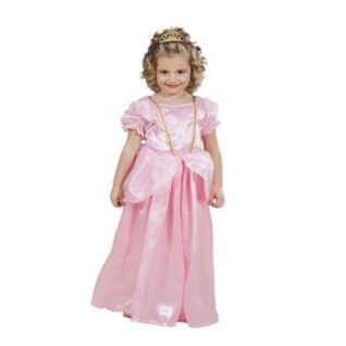 PRINZESSIN KLEID ROSA Gr. 116 Mädchen Kostüm Karneval 1275