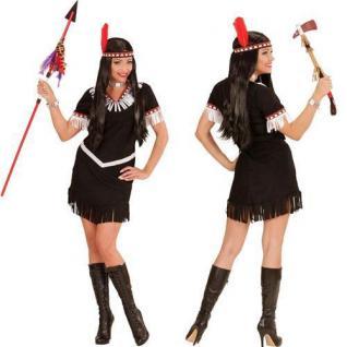 INDIANERINKOSTÜM Western Squaw Kostüm Indianerin Indianer Damen braun S M L XL
