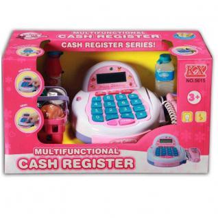 Kinder Spielzeug Kasse SCANNERKASSE für Kaufladen mit Zubehör NEU/OVP
