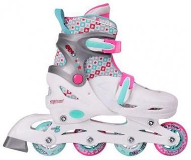 Inlineskating Kinder Skater Inliner Girls  ABEC 5 Größe verstellbar 38 39 40 41 weiß