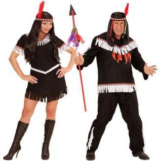 INDIANER INDIANERIN Damen Herren Kostüm Squaw Indianerkostüm Kleid Western