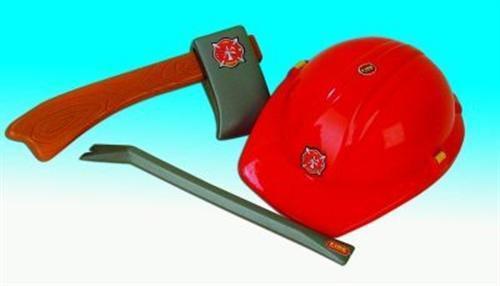 Feuerwehr Set 3tlg Feuerwehrset Helm Handy u Axt