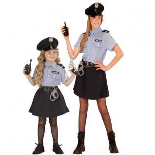 POLICE GIRL POLIZEI MÄDCHEN Kinder Kostüm Größe 116 - 158 cm, Polizistin Cop