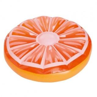 XXL Orange Luftmatratze Schwimmreifen Schwimmring Wasserspielzeug Floater #648