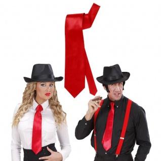 SATIN KRAWATTE - rot - Kostüm Zubehör Motto Party z. B. Mafia Gangster #2959