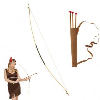 PFEIL UND BOGEN Indianer Räuber Kinder Kostüm Zubehör Karneval Fasching #2393