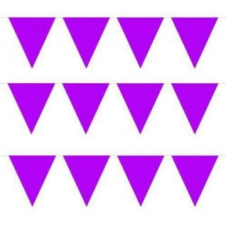10 m Wimpelkette Wimpelgirlande Violett Rosa Party Geburtstag Deko