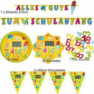 TOP SET - Alles Gute zum Schulanfang - Einschulung ABC 1. Schultag Party Deko