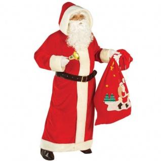 NIKOLAUS KOSTÜM Weihnachtsmann Mantel Samt Gr. XL 54 56 Weihnachten 1556