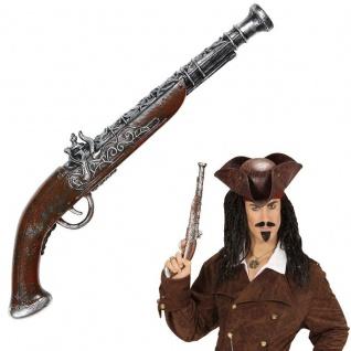 Antike Piraten Pistole 43cm Musketier Mittelalter Karneval Kostüm Zubehör #242