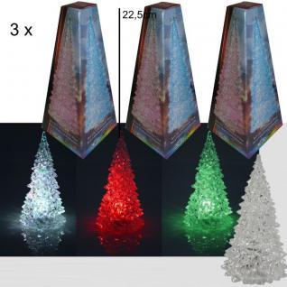 3 x LED Weihnachtsbaum 22, 5cm mit Farbwechsler Christbaum Acryl Weihnachten