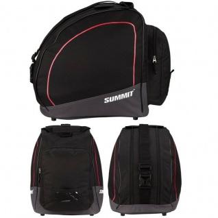 Skischuhtasche Ski Boots Bag Skistiefel Snowboardschuhe Tasche -schwarz/rot-