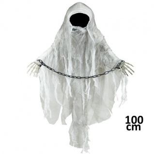 Gesichtsloser GEIST Tod Hängefigur Deko Halloween Horror (4551) Grusel Party